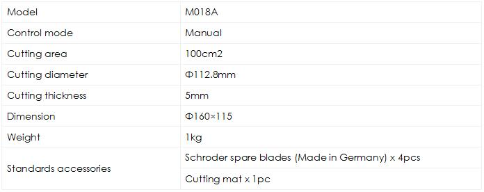 Circular Sample Cutter M018A